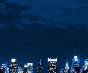 city, lights, and night image