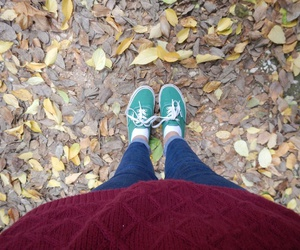 autumn, shoes, and fall image