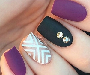 nails, black, and purple image