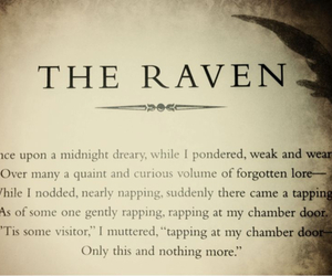 the raven, edgar allan poe, and poem image