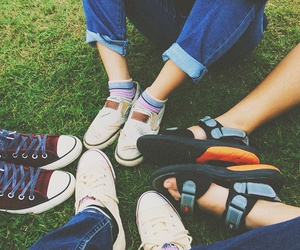converse, friend, and happiness image