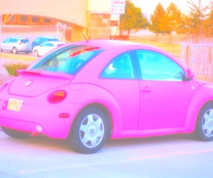 pink, car, and photography image
