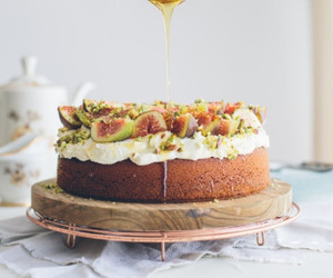 cake, fig, and food image