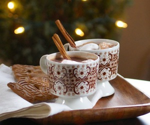 christmas, hot chocolate, and chocolate image