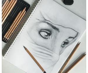 art, pencils, and sketch image