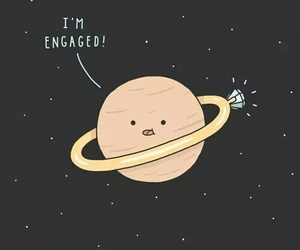 funny, planet, and saturn image
