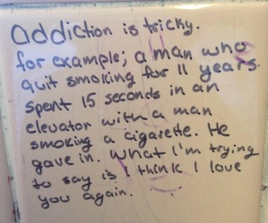 addiction, love, and quote image