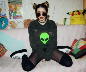grunge, alien, and hipster image