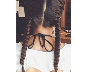 braids, brown hair, and brunette image