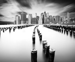 black and white, city, and photography image