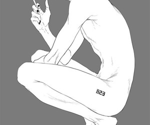 anime, boy, and cigarette image