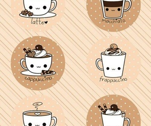 coffee, latte, and kawaii image