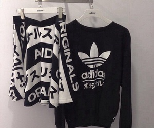 adidas, black, and grunge image