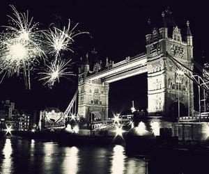 london, black and white, and bridge image