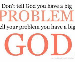 god, christian, and problem image