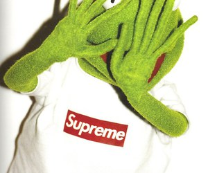 supreme, kermit, and frog image