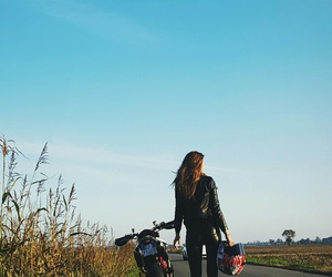 ducati, girl, and motorcycle image