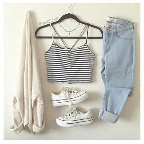 casual, clothes, and crop image