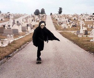 skate, death, and cemetery image