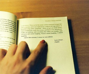 book, charlie, and hand image