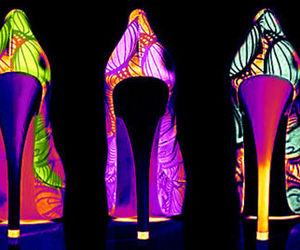 neon, shoes, and heels image