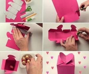 diy, box, and heart image