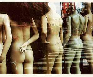 butts, glass, and mannequins image