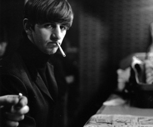 ringo starr, the beatles, and cigarette image