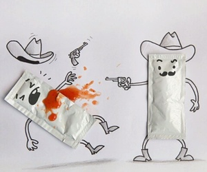 art, ketchup, and funny image