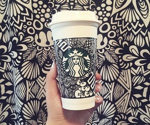 art, blackandwhite, and starbucks image