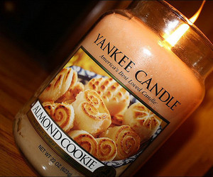 candle, almond, and cookie image
