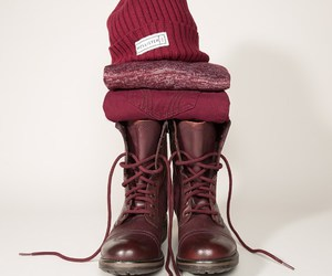 combat boots, winter style, and fashion image