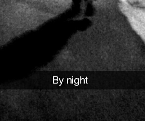 black and white, lové, and night image