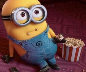 minions, popcorn, and yellow image
