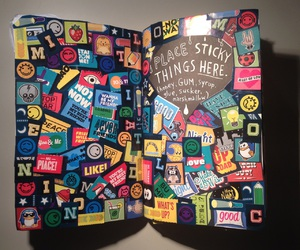 colors, stickers, and wreck this journal image