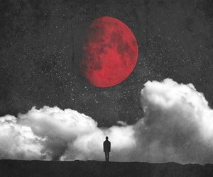moon, red, and clouds image
