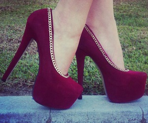 red, shoes, and high heels image