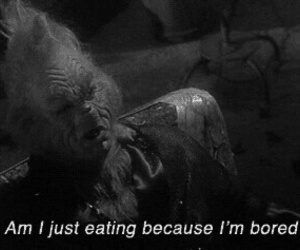 grinch, bored, and food image