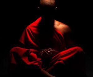 monk, photography, and meditation image