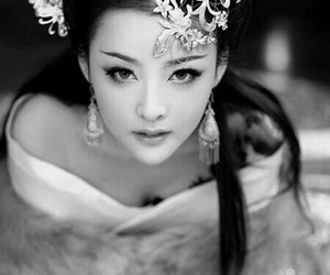 asian, beauty, and geisha image
