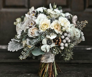flowers, wedding, and winter image