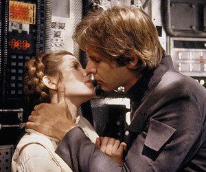 star wars, han solo, and Princess Leia image