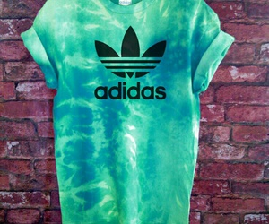 adidas, green, and blue image