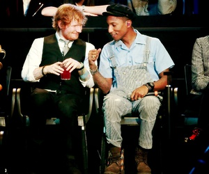 Pharrell Williams, mtv ema, and ed sheeran image