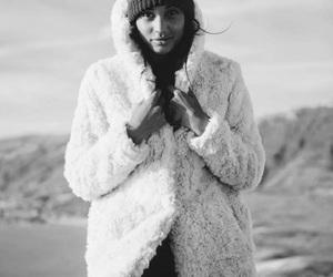 autumn, black and white, and coat image