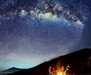 milky way, picnic, and relax image