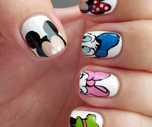 nails, disney, and nail art image