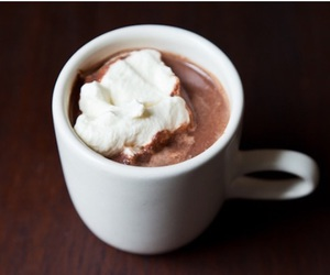 food, chocolate, and hot ​chocolate image