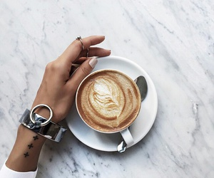 coffee, tattoo, and white image