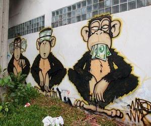 money, monkey, and art image